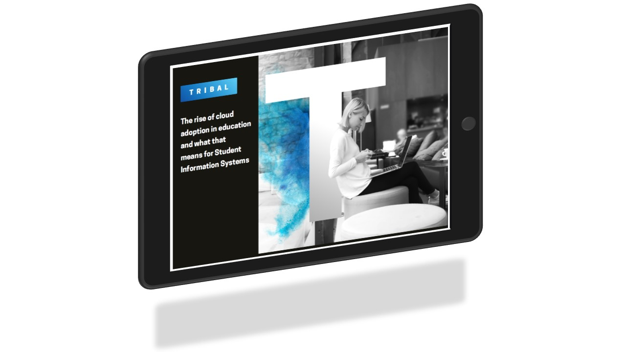 Cloud white paper front cover on tablet 3d